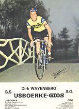 DIRK WAYENBERG Cyclisme IJSBOERKE GIOS 78 ciclismo Cycling wielrennen radsport