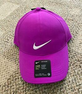 Womens Nike Aerobill Heritage86 Baseball Cap Fuchsia Pink OS Hat Lightweight