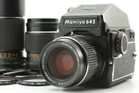 【N MINT w/ 3Lens】 Mamiya M645 AE Finder Sekor C 55mm 150mm 210mm Lens JAPAN #200