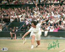 Billie Jean King Wimbledon Tennis Signed Auto 8x10 PHOTO Beckett BAS COA