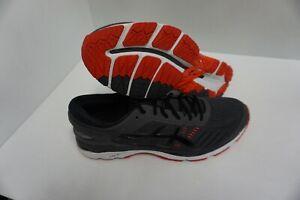 Asics men shoes gel kayano 24 dark grey black fiery red size 10 us