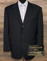 Corneliani Men's Super 120s Wool Navy Blue 3-Button Blazer Sport Coat Jacket 42S