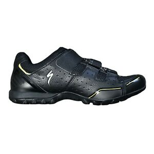 Specialized Rime MTB Shoes 44 10.5 Mountain Bike Vibram BOA Black Neon Green New
