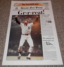"Kirk Gibson Detroit Tigers Free Press Poster 1984 World Series 24""x15"" ORIGINAL!"