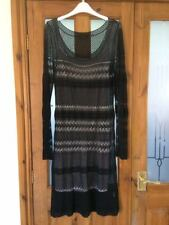 'COAST' ladies stunning black lace effect two layer dress UK SIZE 12 EX COND