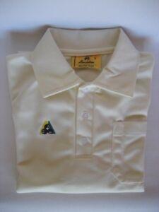Henselite Aerolite Mens Cream Polo Top Shirt - Clearance - HALF PRICE! Only $39