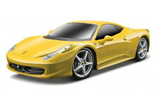 FERRARI 458 ITALIA 1:24 car YELLOW diecast KIT yellow metal model die cast