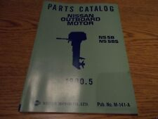Nissan M-141-A Outboard Boat Motor Parts Catalog Ns 5B, Ns 5Bs, 1990.5