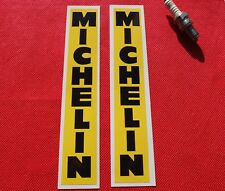 Pair of  Michelin vertical yellow stickers
