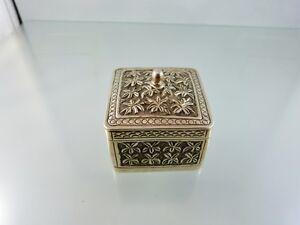 ANTIQUE CONTINENTAL SILVER  TEA CADDY BOX ORNATE DESIGN