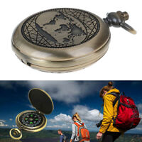 Retro Pocket Watch Compass Outdoor Tools Hiking Adventure Camping Equipment-QA