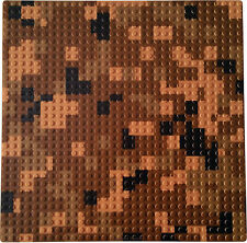 """1 Brown Pixelated 10x10"""" Base Plate compatible with LEGO +1 LEGO Minecraft brick"""