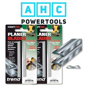 Trend Planer Blades x 4 82mm Makita Dewalt Bosch Hitachi - CR/PB29 Pack of 4