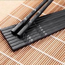 Pair Black Chopsticks Reusable Cooking Japanese Chopsticks