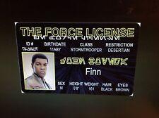 Star Wars Stormtrooper Finn fake Id i.d card Drivers License storm trooper