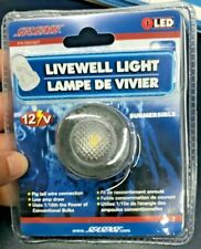 Boat Marine RV Waterproof Courtesy Livewell 12 Volt LED White Light Submersible