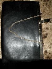 Beautiful Vintage Etra Purse Black Leather Clutch Bag purse