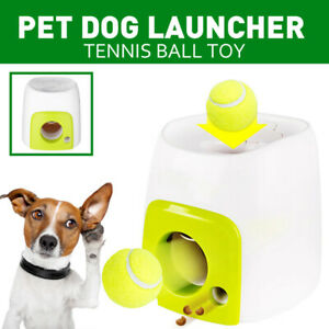 Automatic Interactive Ball Tennis Launcher Dog Pet Toys Training/Feeding Reward