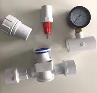 10 Nipple Chicken Water System Bushings, Pressure Regulator, Gauge, Hose Adapter