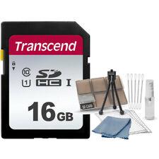 Transcend 16GB 300S SDHC UHS-1 Class 10 Memory Card + Card Organizer Starter Kit