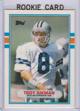 TROY AIKMAN ROOKIE CARD 1989 Topps Traded NFL RC Football DALLAS COWBOYS!