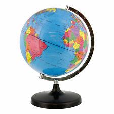 "10"" Inch (25cm) Deluxe Blue Ocean Rotating Desktop World Earth Globe"