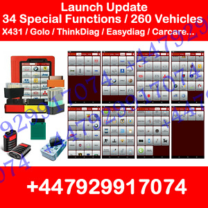 LAUNCH X431 PRO GOLO EASYDIAG THINKDIAG IDIAG ONLINE ACTIVATION CARCARE UPDATE