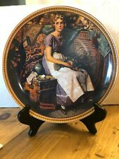 New ListingNorman Rockwell Limited Edition Plate Dreaming in the Attic with Box