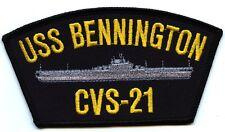ERROR USS Bennington CVS-21??? embroidered patch U.S. Navy aircraft carrier