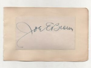 5x3..5  hand signed card on vintage page JOE E BROWN (1891-1973)+ photo