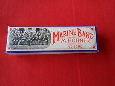 Vintage Marine Band Harmonica M.Hohner, Key C, No. 1896 Germany