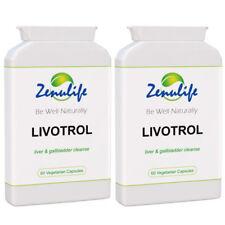 LIVOTROL Liver Detox Diet Tablets & Herbal Cleansing Support Formula (2 Bottles)