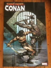 "SAVAGE SWORD OF CONAN (24"" x 36"") MARVEL FOLDED PROMO POSTER **BUY 2 GET 1 FREE"