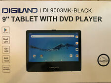 "DIGILAND 9"" Quad-Core 16GB Android Tablet & DVD Player w/Accessories, Black"