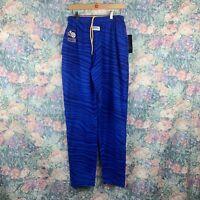 Vintage NWT Zubaz Men MED USBL Basketball Blue Striped Elastic Sweatpants Jogger
