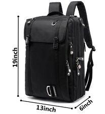 """17"""" Laptop Briefcase Backpack, Convertible Waterproof Business Slim Daypack Trav"""