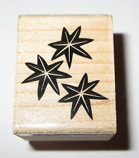 STARS Rubber Stamp Sky Celestial Night Retired Wood Mounted Hero Arts