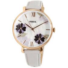 Fossil Women's Jacqueline ES4672 Rose-Gold Leather Japanese Quartz Fashion Watch