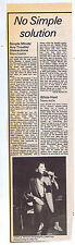 SIMPLE MINDS - MANCHESTER press clipping 1979 (16/6/79) 10X34cm