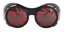 HALLOWEEN PARTY BLACK SPIRAL GLASSES FANCY DRESS ACCESSORY