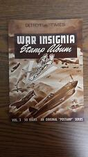 VTG WWII 1942 Detroit Times War Insignia Stamp Album Vol. 3 w/All 50 Stamps