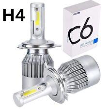 2Pcs H4 C6 10800LM 6000K 120W COB LED Car Headlight Kit Hi/Lo Turbo Lights New