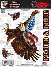 Lethal Threat Pegatina Sticker motocicleta Casco PC guitarra quad EE. UU. Adler lt88689