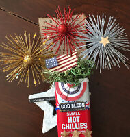Tiered Tray Decor Patriotic On Vintage Spice Tin decoration