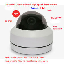 "2MP IR 20m outdoor 2.5"" mini PTZ network metal IP High Speed dome camera 3X zoom"