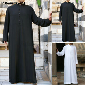 Mens Jubba Kaftan Dishdash Thobe Arab Robe Festival Islamic Clothing Saudi Robe
