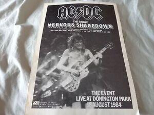 AC/DC - Nervous Shakedown - A4 size full page magazine poster advert / photo