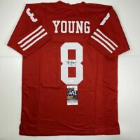 Autographed/Signed STEVE YOUNG San Francisco Red Football Jersey JSA COA Auto