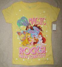 WINX Club *Magic Rocks! NYC* Yellow S/S Fitted Tee T-Shirt Girls sz 6/7