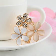 Gold-plated Crystal Silk Scarf Clip Buckle Holder Brooch Pins Jewelry Gift Hot